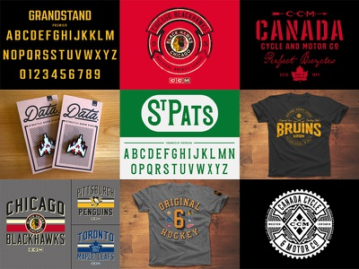 2017 Year In Review typography fonts pins apparel games hockey sports type