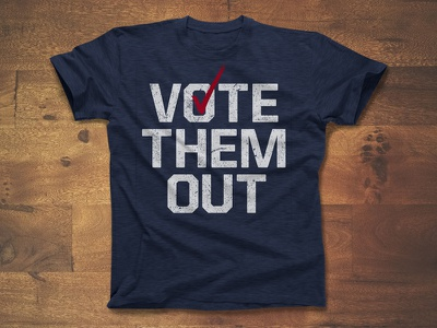 Vote Them Out guns democracy design usa apparel vote