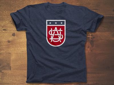 United - USA america stripes stars apparel sports logo monogram shield flag usa