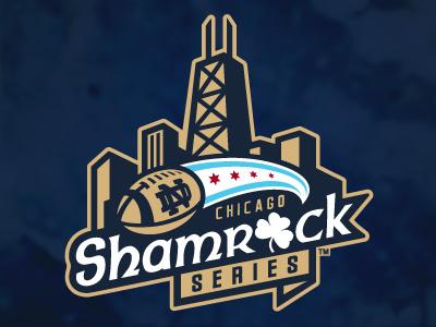 2012 Shamrock Series Logo logo chicago notre dame football