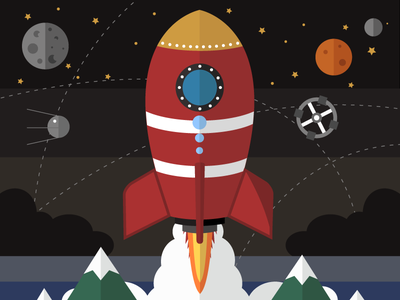 Interstellar illustration astronaut launch gravity spacecraft spaceship space
