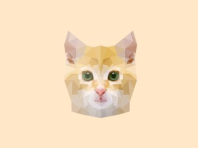Cat cat illustration animal low poly polygon kitten