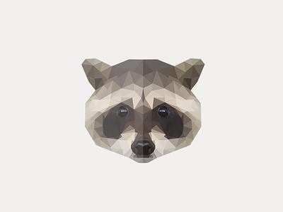 Raccoon raccoon gray animal low poly animal low poly logo polygon