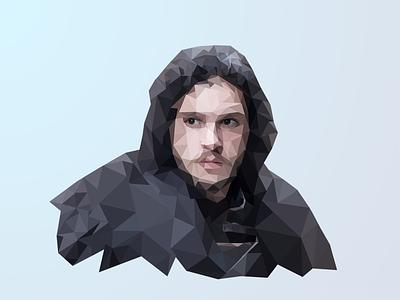 Jon Snow jon snow illustration low poly game of thrones
