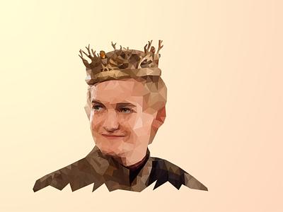 Joffrey Baratheon illustration low poly joffery baratheon king joffery game of thrones