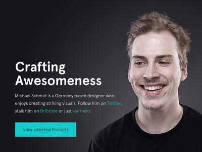 The new workdiary.de portfolio personal profile about work photo minimal redesign web website