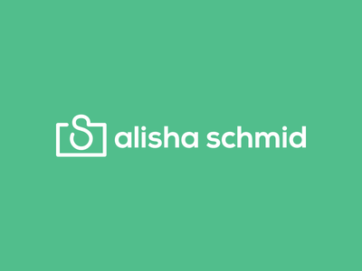Alisha Schmid Logo logo typography line photography type icon mark stroke mint green photographer branding