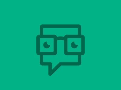 Nerddiary Logo Work in Progress icon logo mark stroke line branding green geek glasses bubble eyes