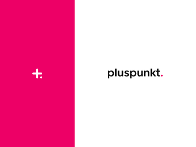 Studio Pluspunkt Logo typography type avenir icon mark dot branding magenta photographer photography minimalistic clean
