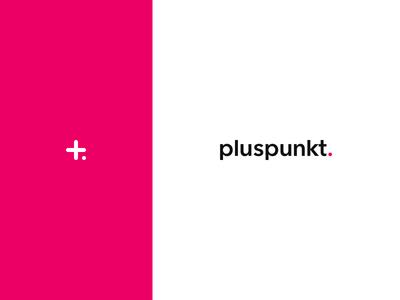 Studio Pluspunkt Logo typography type avenir icon mark dot branding magenta photographer photography minimalistic clean