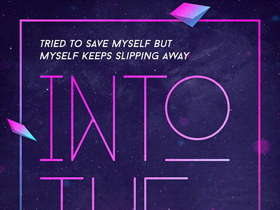 Into The Void texture typography type poster retro vintage 80s vibrant colorful geometric space