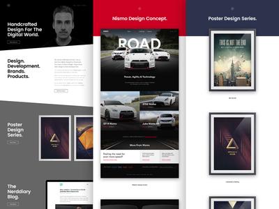 workdiary.de update portfolio personal profile black and white bright dark glitch minimal clean redesign web website