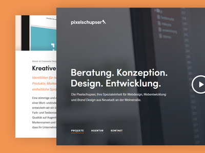 Pixelschupser Website Redesign wordpress typography sofia orange background image flat simple minimal website web relaunch redesign