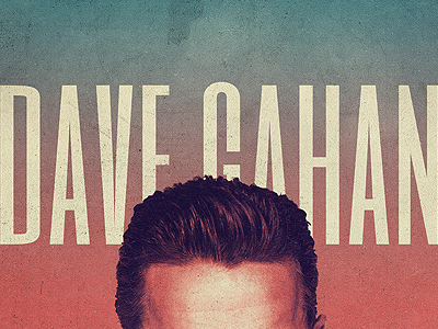 Dave Gahan Poster depeche mode music type typography vintage retro colors collage photo texture shapes