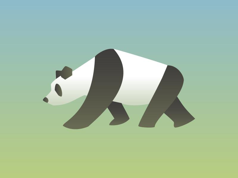 panda bear gradient pandas panda