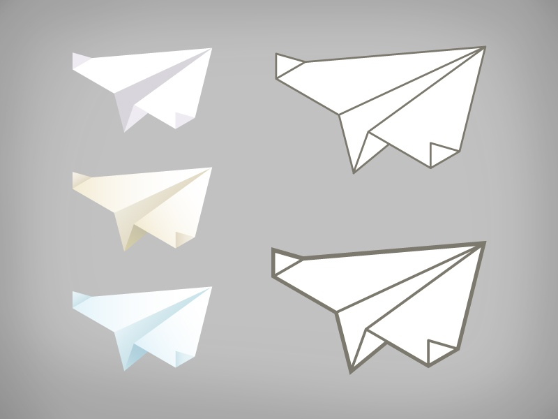 Paper Airplanes illustration iconography paper airplanes logo