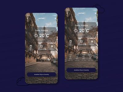 DailyUI 037 : Weather web design challenge design inspiration ui ux design uidesign apps design app mobile apps weather weather app daily ui dailyui