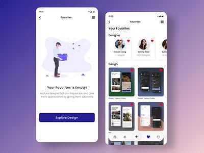 DailyUI 044 : Favorites ui challenge design inspiration ui ux design design app uidesign apps mobile apps webdesign user interface design favorites favorite daily ui dailyui