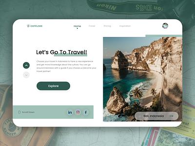 DailyUI 053 : Header Navigation web design apps design app user interface design design inspiration uidesign ui ux design header header design travel app travel daily ui dailyui