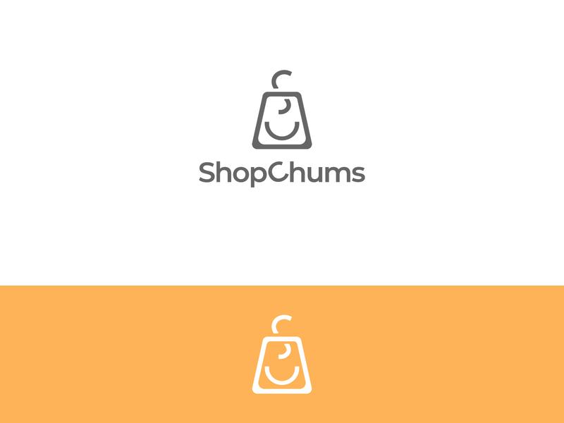 ShopChums shopping typography graphicdesign logodesign minimal flat illustrator illustration branding logo design art