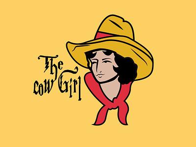 Cow girl artist art artwork logo