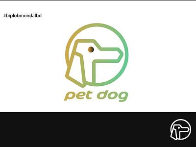 pet dog illustrator minimal typography design art icon illustration artwork artist logo