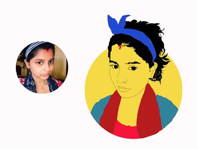 Cartoon portrait graphic design art