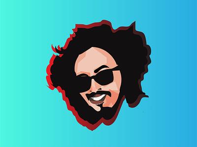 cartoon adobe illustrates graphic design cartoon portrait minimal design artist logo illustration artwork art