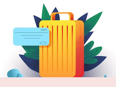 Чемодан путешествие чемодан logo typography открытка реклама branding vector illustration ai design