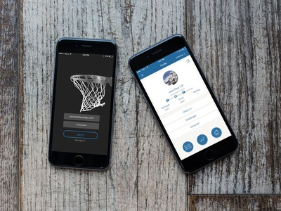 Let's Basketball design interaction ux ui location-based service social platform basketball app