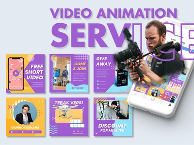 Video Animation Service - Social Media Design instagram banner instagram post video animation service video animation social media design branding design advertising design