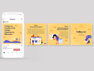Instagram Carousels for Designer Microblogger branding advertising social media design microblogger designer instagram banner instagram post instagram carousels