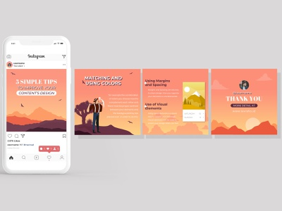 Instagram Carousels for Graphic Designer Microblogger 2 branding advertising social media design microblogger graphic designer instagram banner instagram post instagram carousels