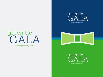 Logo for Green Tie Gala Event