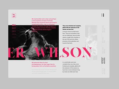He.art, Website Design & Animation motion muzli interaction design interaction layout animation slider magazine blog principle animal branding logo typography landing website web ux ui design