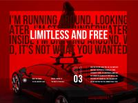 Limitless and Free, Landing Page Animation skateboard lamborghini motion graphics modern skate car minimal animation design animation motion principle app principle typography designer landing website web ux ui design