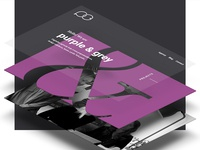 Landing page for purple&grey