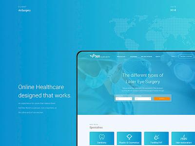 Online Healthcare designed that works healthcare platform reservation hospital doctor booking prestige luxury gradient blue landing app website web branding agency designer ux ui design