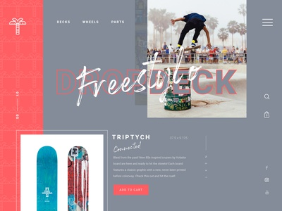 What if online shopping could be more personal? invision muzli store shot visual  identity art direction ecommerce shop longboard skate layout landing app logo website web branding ux ui design