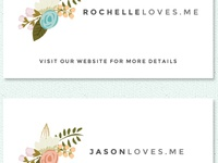 Wedding Website Card (Two-Sided, Two Domains FTW)