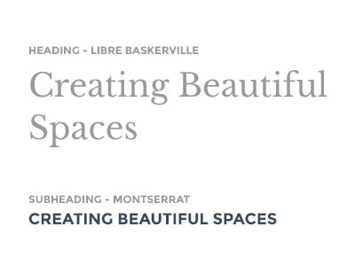 Furniture company typography