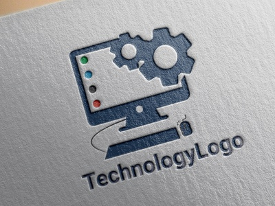 technology logo design logo illustration