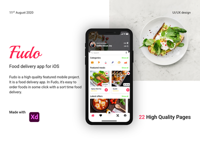 Fudo - The Food Delivery App app ux ui design user interface design userinterface fudo - the food delivery app fudo - the food delivery app graphic design food app ui food app delivery app food delivey app ux design ui design