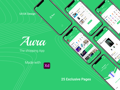 Aura - Shopping App UI/UX Design aura ui  ux design ux ecommerce shopping app ecommerce app ui design graphic design ui design
