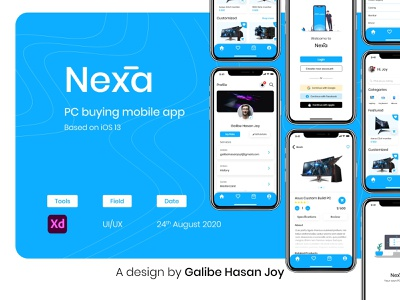 Nexa - PC Buying Ecommerce App UI/UX Design ecommerce ui shop mobile app ui ux design mobile app mobile app design user interface design nexa shopping app ecommerce app ecommerce design app ux ui graphic design ui design