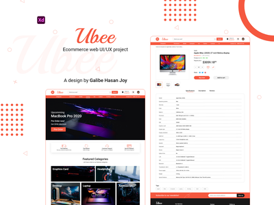 Ubee - Ecommerce Web UI/UX Design ecommerce shop ecommerce design ubee web design ecommerce website design user interface design ecommerce ux ui design ui graphic design design
