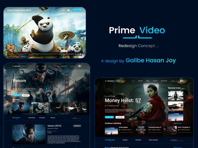 Amazon Prime Web Redesign Concept - UI/UX Project rebranding webdesign website design amazon redesign amazon prime video galibe hasan joy redesign fudo - the food delivery app web design design ui ux user interface design ui design graphic design