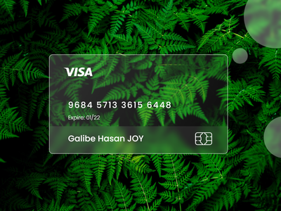 Visa card I Glassmorphism I 2021 trend galibe hasan joy branding trending glass glassmorphism user interface design ui design design graphic design