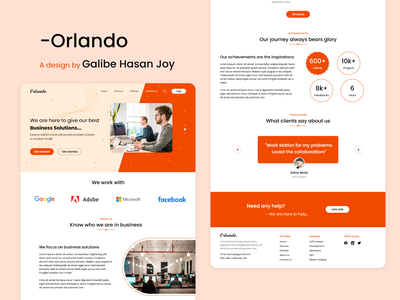 Orlando - Digital Agency Web UI Project marketing agency graphicdesign website digital agency agency branding web design user interface design ui ux ui design graphic design design