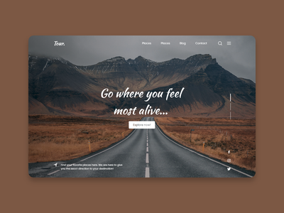 Tour - Travel website design agency branding tour website travel website tour agency website galibe hasan joy agency website branding web design user interface design ui ux ui design graphic design design